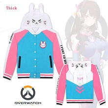 Overwatch D.VA thick hoodie cloth