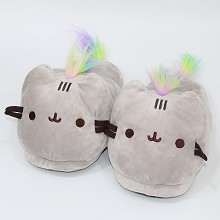 Pusheen anime plush shoes slippers a pair