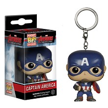 Funko-POP Captain America figure doll key chain