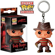 Funko-POP a Nightmare on Elm Street Freddy Krueger figure doll key chain