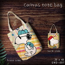 Snoopy canvas shopping bag hand bag