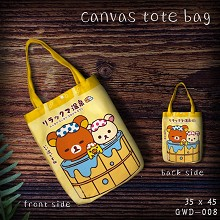 Rilakkuma canvas shopping bag hand bag
