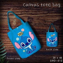Stitch canvas shopping bag hand bag