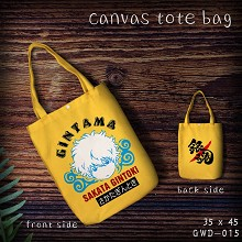 Gintama canvas shopping bag hand bag