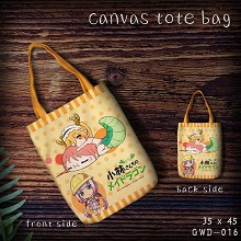 Miss Kobayashi's Dragon Maid canvas shopping bag h...