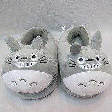 Totoro anime plush shoes slippers a pair