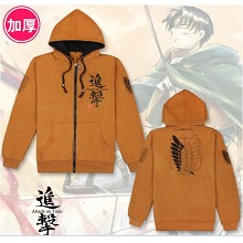Attack on Titan anime thick long sleeve hoodie