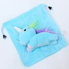 Unicorn plush drawing bag 21*19CM
