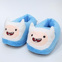 Adventure Time anime plush shoes slippers a pair