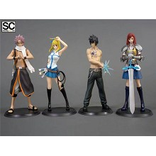 Fairy Tail anime figures set(4pcs a set)