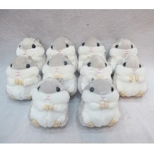 4inches Cricetidae plush dolls set(10pcs a set)