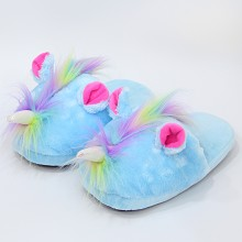 11inches My Little Pony anime plush shoes slippers a pair