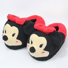 12 inches Mickey anime plush shoes slippers a pair