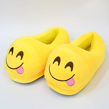 11inches Emoji anime plush shoes slippers a pair