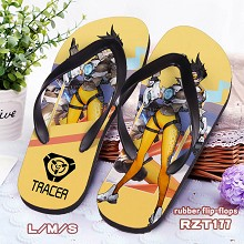 Overwatch Tracer rubber flip-flops shoes slippers ...