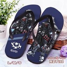 Overwatch Reaper rubber flip-flops shoes slippers ...
