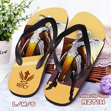 Overwatch Mercy rubber flip-flops shoes slippers a...