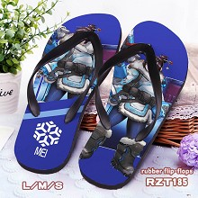 Overwatch Mei rubber flip-flops shoes slippers a pair