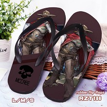 Overwatch Mccree rubber flip-flops shoes slippers ...