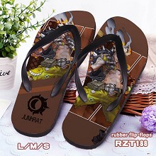 Overwatch Junhrat rubber flip-flops shoes slippers...
