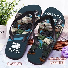 Overwatch Bastion rubber flip-flops shoes slippers...