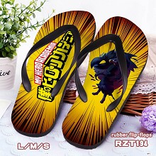 My Hero Academia rubber flip-flops shoes slippers ...