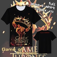 Game of Thrones short sleeve full print t-shirt