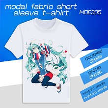Vocaloid Hatsune Miku anime modal fabric short sleeve t-shirt