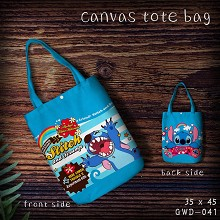 Stitch anime hand bag shopping bag