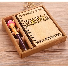 One Piece anime retro wooden notebook