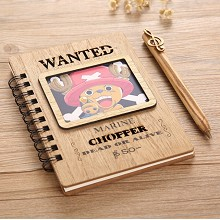 One Piece Chopper anime retro wooden notebook