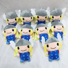 4.5inches Thor plush dolls set(10pcs a set)
