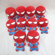 4.5inches Spider man plush dolls set(10pcs a set)