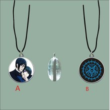 Kuroshitsuji anime two-sided necklace
