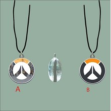 Overwatch anime two-sided necklace