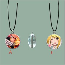 Fairy Tail anime two-sided necklace
