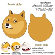 Doge custom shaped pillow