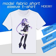 Hyperdimension Neptunia modal fabric short sleeve t-shirt