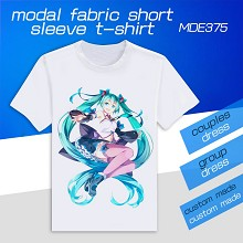 VOCALOID Hatsune Miku modal fabric short sleeve t-...