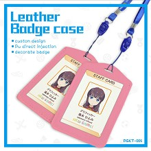 The other cartoon anime leather badge case