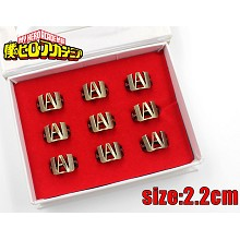 My Hero Academia rings set(9pcs a set)