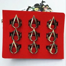Assassin's Creed rings set(9pcs a set)