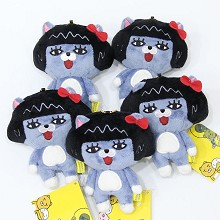 4inches Kakao friends plush dolls set(5pcs a set)
