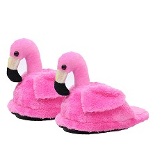 Flamingo plush shoes slippers a pair 28CM