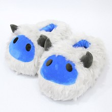 Sheep plush shoes slippers a pair 28CM