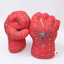 Spider Man plush Open-fingered gloves a pair