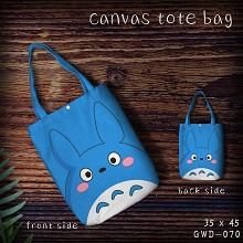Totoro anime canvas tote bag shopping bag