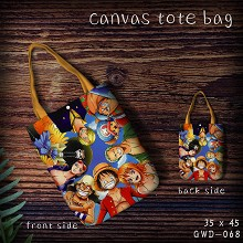 One Piece anime canvas tote bag shopping bag