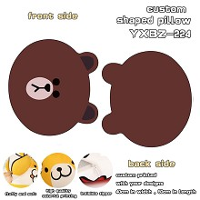 Bear Brown custom shaped pillow