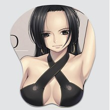 One Piece Hancock 3D anime silicone mouse pad